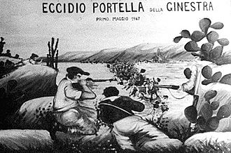 Mario Scelba - Mural of the Portella della Ginestra massacre
