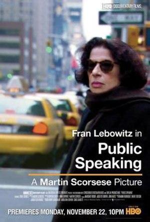 Public Speaking (film) - Image: Public Speaking Film Poster