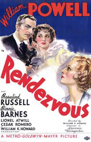 Rendezvous (1935 film) - theatrical release poster