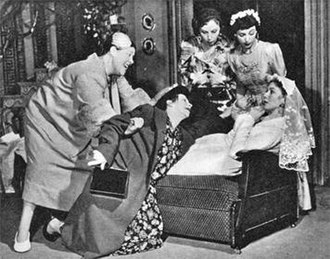 Sailor Beware! (play) - From the 1955 London production: left to right Peggy Mount, Ann Wilton, Myrette Morven, Jean Burgess and Sheila Shand Gibbs