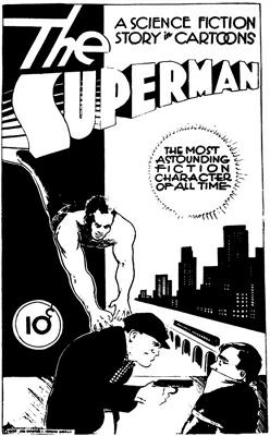Siegel Shuster Superman 1933 concept