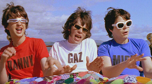 "Alright (Supergrass song) - Danny, Gaz and Mick in a scene from the video to ""Alright""."