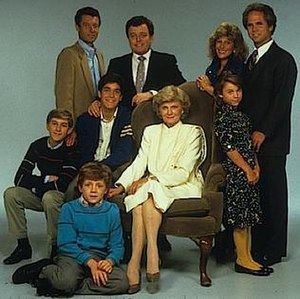 The New Leave It to Beaver - The New Leave It to Beaver cast photo. (Top row; left to right) Ken Osmond, Jerry Mathers, Janice Kent, Tony Dow. (Center row; left to right) Eric Osmond, Kipp Marcus, Barbara Billingsley, Kaleena Kiff. (Bottom row; front) John Snee.
