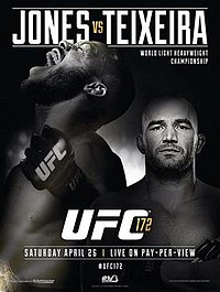 A poster or logo for UFC 172: Jones vs. Teixeira.