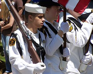 United States Naval Sea Cadet Corps - USNSCC cadets in formation at Harvard, Illinois in June 2006.