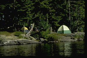 Camping on the shores of Voyageur National Park
