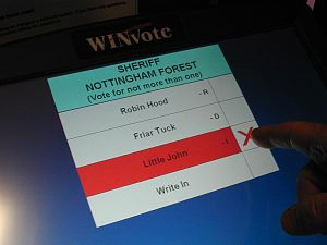 Voting machine - Image: Winvote arlington