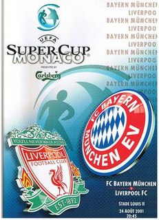 2001 UEFA Super Cup Football match