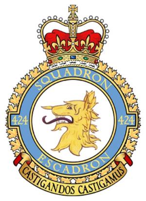 424 Transport and Rescue Squadron - 424 Squadron badge
