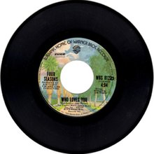 "45rpm of ""Who Loves You"" by ""Four Seasons"" - WhoLovesYou.jpg"