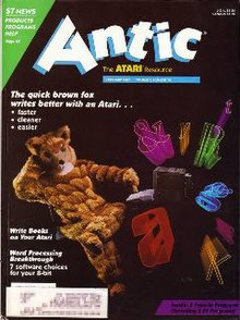 Antic, February 1987 - Cover art