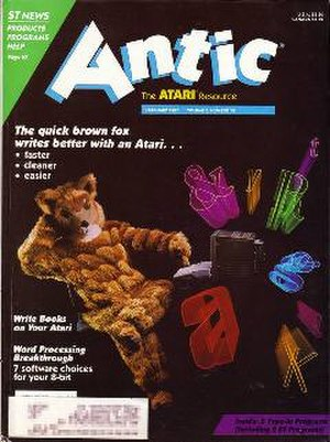 Antic (magazine) - Image: ANTIC February 1987