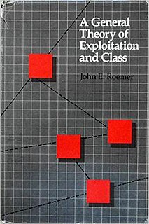 <i>A General Theory of Exploitation and Class</i> 1982 book by John Roemer