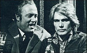 Budgie (TV series) - Iain Cuthbertson (left) and Adam Faith (right) in ITV television series Budgie
