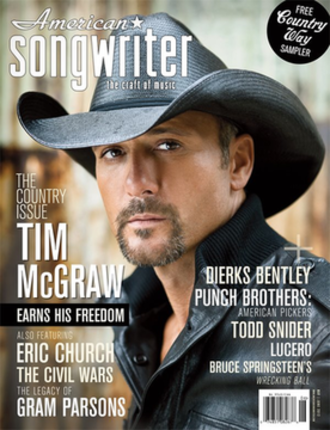 American Songwriter - May–June 2012 issue of American Songwriter featuring Tim McGraw