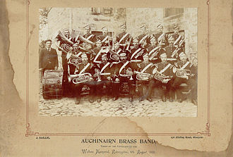 Robroyston - Auchinairn Instrumental Band, Unveiling of the Wallace Memorial, Robroyston 4 August 1900