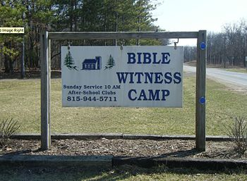Bible Witness Camp sign