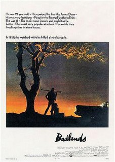 <i>Badlands</i> (film) 1973 American crime film directed by Terrence Malick