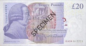 Bank of England £20 note - Image: Bank of England £20 reverse
