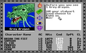 The Bard's Tale (1985 video game) - A screenshot of The Bard's Tale on the Apple IIGS.