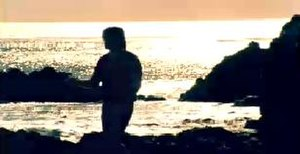 "Back to Tennessee (song) - Cyrus during a sunset in a beach in the ""Back to Tennessee"" music video."