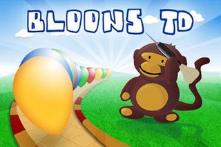 <i>Bloons Tower Defense</i> Tower defense video game series featuring popping of enemy balloons