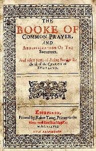 Book of common prayer Scotland 1637