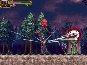 Castlevania: Order of Ecclesia - A boss fight.
