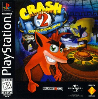 Crash Bandicoot 2: Cortex Strikes Back - North American box art