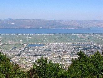 Cang Mountain - Image: Dali City Birdseye