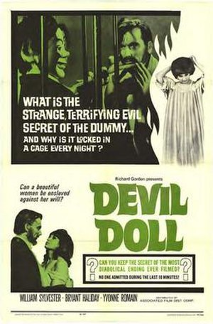 Devil Doll (film) - Theatrical release poster.
