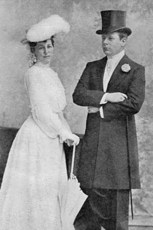 Elizabeth Wharton Drexel - Drexel and Lehr at their wedding, 1901
