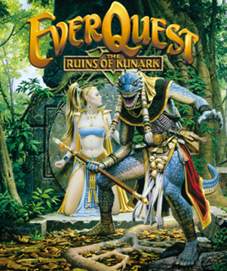 EverQuest expansions - Cover art for the first EverQuest expansion pack, The Ruins of Kunark.