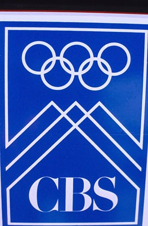 CBS Olympic broadcasts - The Olympics on CBS logo from their Winter Olympics coverage during the 1990s.