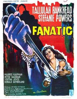 Fanatic (film) - UK theatrical release poster