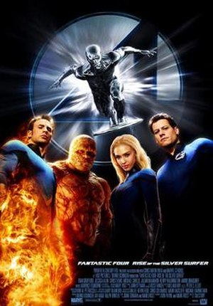 Fantastic Four: Rise of the Silver Surfer - Theatrical release poster