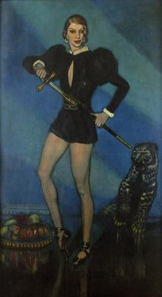 Federico Beltrán Masses - The Ballets Russes dancer Alicia Nikitina painted by Federico Beltran Masses, circa 1929