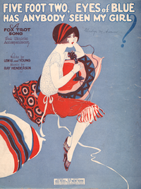 Sheet Music cover for Five Foot Two, Eyes of Blue