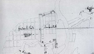 Friedrichstadt (Berlin) - An early drawing of the Friedrichstadt street layout.