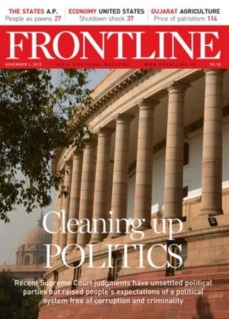 Frontline (magazine) - Image: Frontline magazine cover 1 Nov 2013