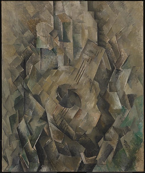 File:Georges Braque, 1909-10, La guitare (Mandora, La Mandore), oil on canvas, 71.1 x 55.9 cm, Tate Modern, London.jpg