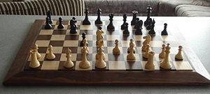 Gothic chess set staunton