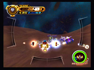 Kingdom Hearts II - The Gummi Ship segments were redesigned for Kingdom Hearts II.