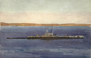 HMS E11 - Image: HMS E11 off the Dardanelles