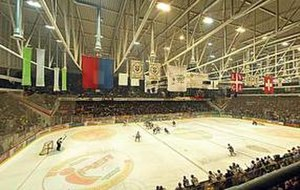 HC Lugano - Internal view of the Lugano hockey arena Resega.