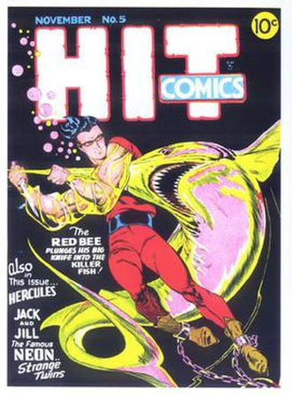 Lou Fine - Image: Hit Comics 5