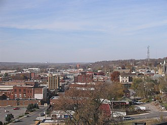 Ottumwa High School - OHS is situated on one of the highest hills in Ottumwa.  This view from the roof is an impressive look at downtown Ottumwa.