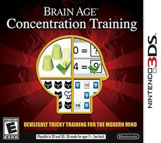 <i>Brain Age: Concentration Training</i> Video game for the Nintendo 3DS