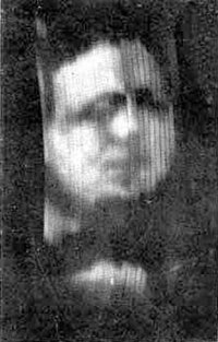 "The first known photograph of a moving image produced by Baird's ""televisor"", circa 1926."