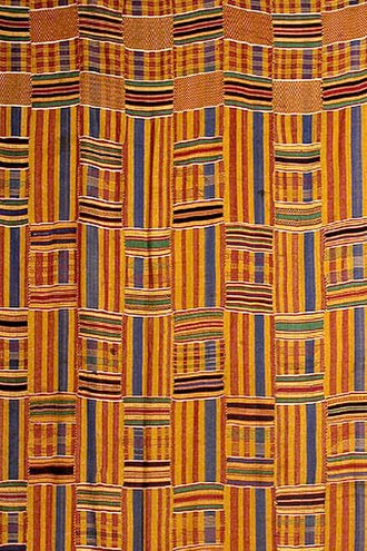 Ashanti Empire - Kente cloth, the traditional garment worn by Ashanti royalty, has been widely adopted throughout the Ashanti Kingdom.